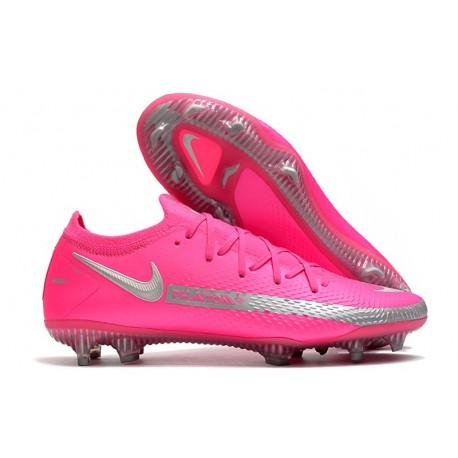 Nike Crampons de Foot Phantom GT Elite FG Rose Argent