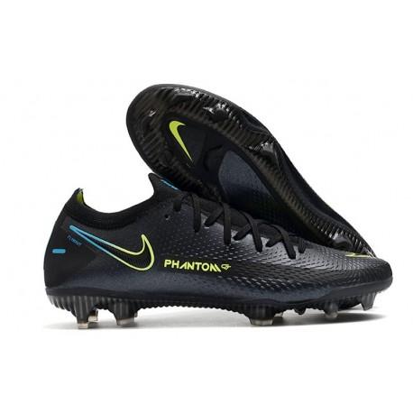 Nike Chaussure Phantom GT Elite FG Noir Vert