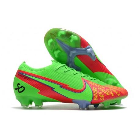 Nike Mercurial Vapor 13 Elite FG ACC Vert Rouge