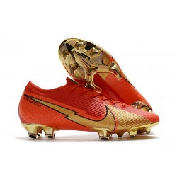 Nike Mercurial Vapor 13 Elite FG ACC Ronaldo CR100 Rouge Or