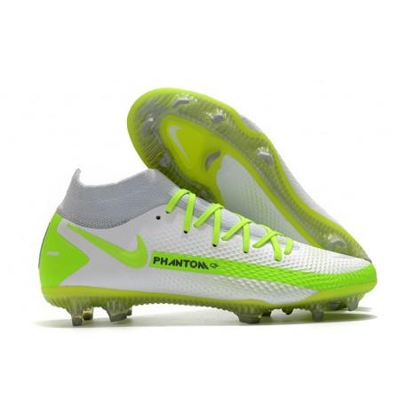 Nike Phantom GT Elite DF FG Neuf Crampons Blanc Vert
