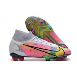 Crampons Nike Mercurial Superfly VIII Elite FG Blanc Multicolore
