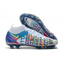 Nike Phantom GT Elite DF FG Neuf Crampons 3D Blanc Bleu Rose Jaune