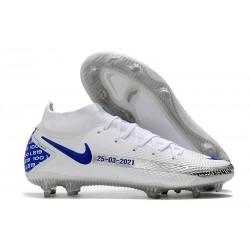 Nike Phantom GT Elite DF FG Neuf Crampons Blanc Bleu