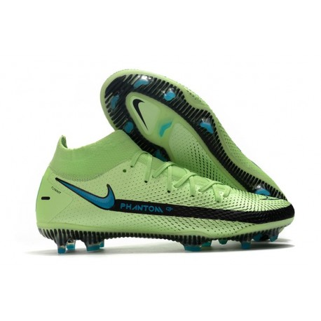 Nike Phantom GT Elite DF FG Neuf Crampons Vert Noir Bleu