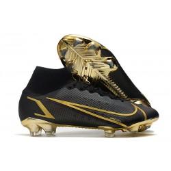 Crampons Nike Mercurial Superfly VIII Elite FG Noir Or