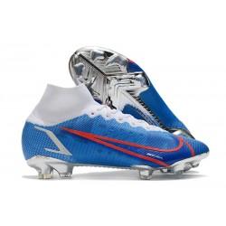 Nike Neuf Mercurial Superfly 8 Elite FG Bleu Blanc Rouge