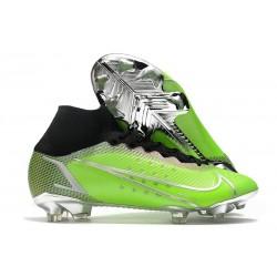 Crampons Nike Mercurial Superfly VIII Elite FG Vert Argent Noir